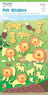 Lions Lion Felt Stickers Sticker Pack Kit Set - Fiesta Crafts