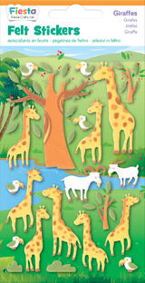 Giraffes Giraffe Felt Stickers Sticker Pack Kit Set - Fiesta Crafts