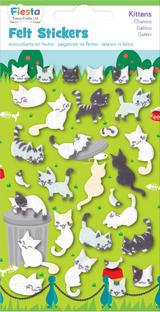Kitten Cat Felt Stickers Sticker Pack Kit Set Stocking Filler Party Bag Gift