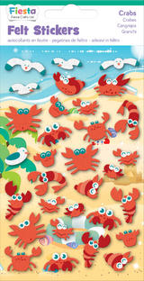 Crabs Felt Stickers Sticker Pack Kit Set Seaside Fun - Fiesta Crafts
