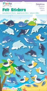 Dolphins Dolphin Felt Stickers Sticker Pack Kit Set - Fiesta Crafts