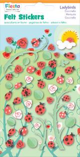 Ladybird Ladybugs Felt Stickers Sticker Pack Set Stocking Filler Party Bag Gift