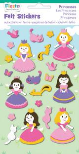 Princess Felt Stickers Sticker Pack Kit Set Stocking Filler Party Bag Gift