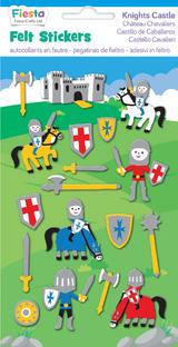 Knight Castle Felt Stickers Sticker Pack Kit Set Stocking Filler Party Bag Gift