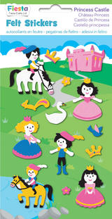Princess Castle Felt Stickers Sticker Pack Kit Set - Fiesta Crafts