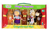 Gingerbread Man Story Time Finger Puppet Puppets Gift Set Kit Official Age 3+