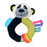Panda Ringaling Baby Teether Soft Toy Comforter Rattle Newborn Gift Boy Girl