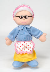 Grandma Old Woman Hand Puppet For Theatre & Story Time By Fiesta Crafts