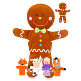 Gingerbread Man Hand and Finger Puppet Show Kit Childrens Gift Set