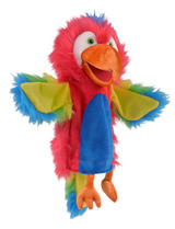 Parrot & Moving Mouth Hand Puppet For Story Telling & Role Play Childrens Gift