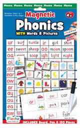 Childrens Phonics Spelling Magnetic Game Board Set by Fiesta Crafts