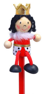Hand Painted Queen Character Pencil & Topper Set Party Bags & Stocking Fillers