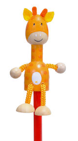 Hand Painted Giraffe Character Pencil & Topper Set Party Bags & Stocking Filler