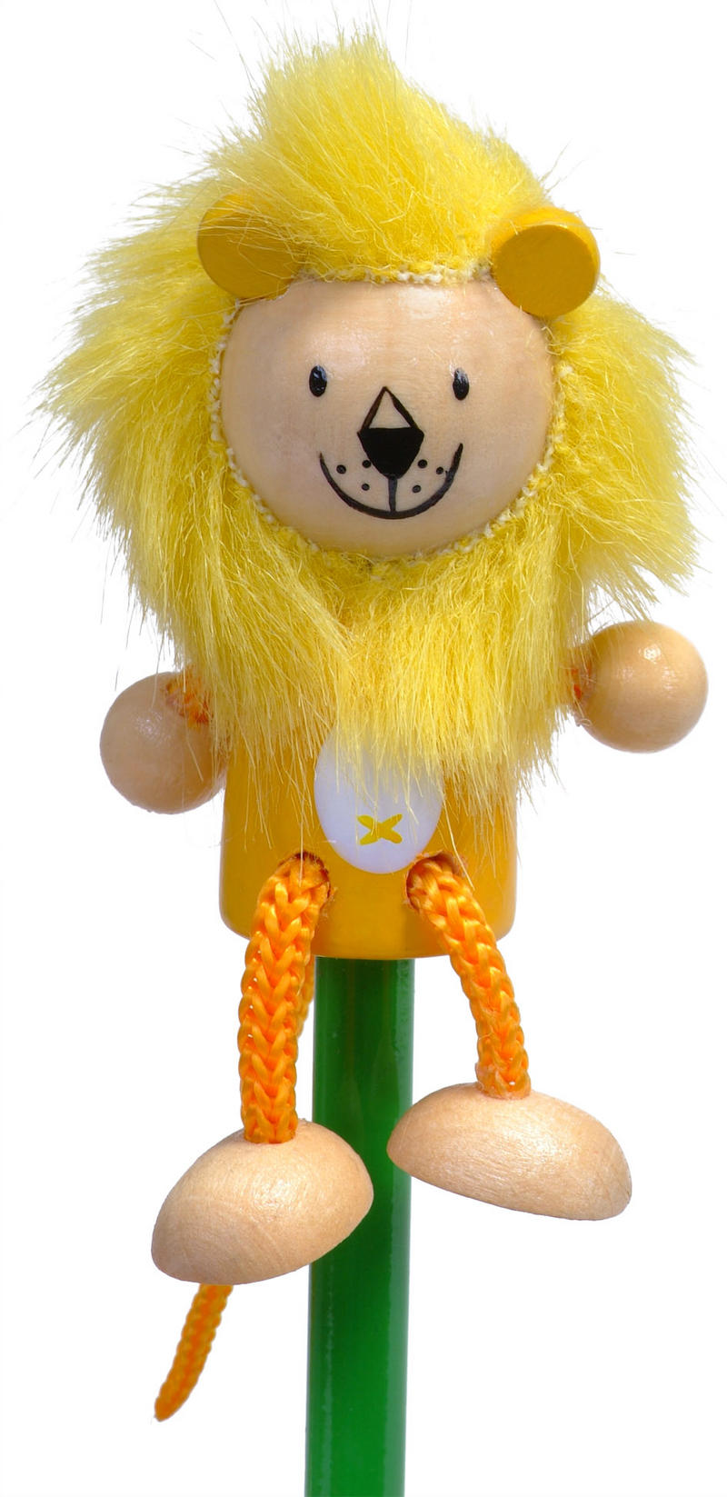 Hand Painted Lion Character Pencil & Topper Set Party Bags & Stocking Filler
