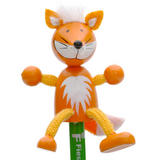 Fox Hand Painted Character Pencil & Topper Set Party Bag Gift