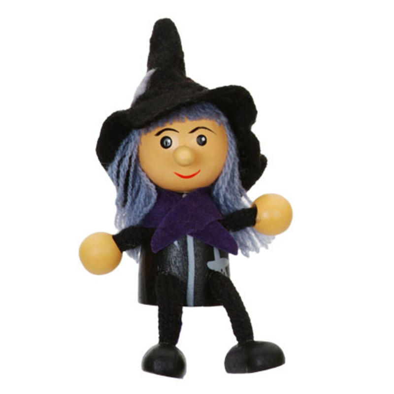Witch Fridge Magnet Toy by Fiesta Crafts - 3cm x 6cm - Age 3+