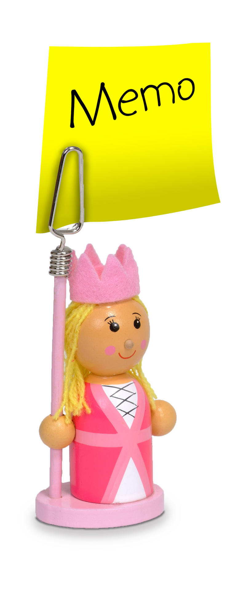 Pink Princess Photo Memo Picture Puppet Holder by Fiesta Crafts