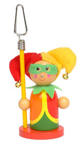 Clown Court Jester Photo Memo Picture Puppet Holder by Fiesta Crafts