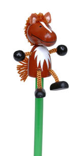 Horse Hand Painted Character Pencil & Topper Set Party Bag Gift