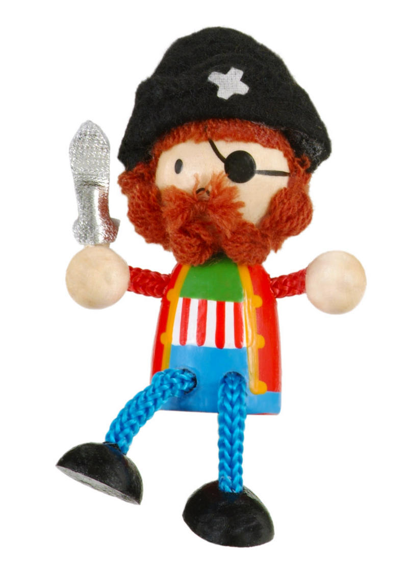 Pirate Fridge Magnet Toy by Fiesta Crafts - 3cm x 6cm - Age 3+