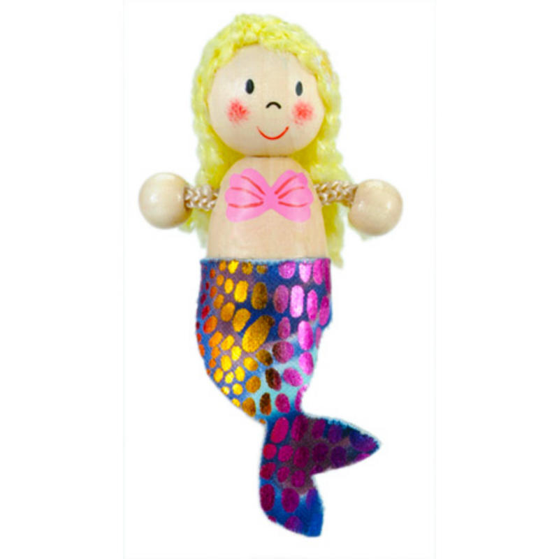 Mermaid Fridge Magnet Toy by Fiesta Crafts - 3cm x 6cm - Age 3+