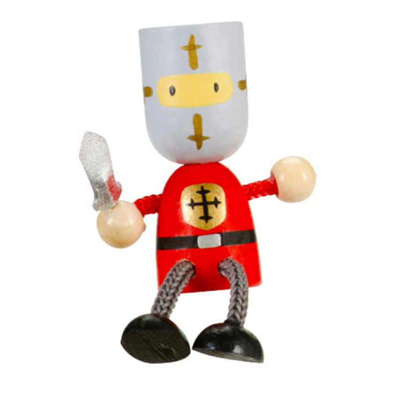 Red Knight Fridge Magnet Toy by Fiesta Crafts - 3cm x 6cm - Age 3+