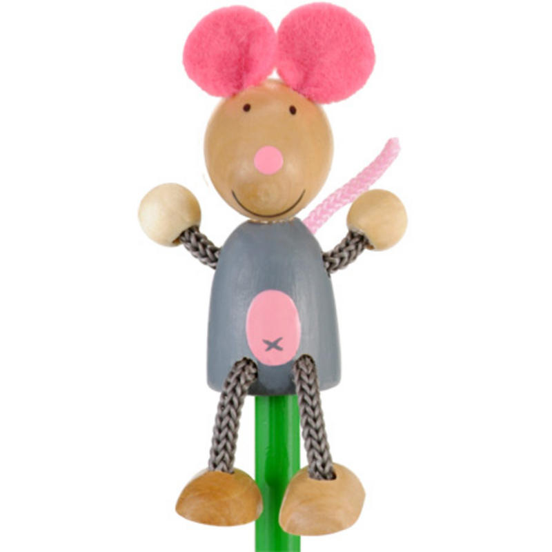 Mouse Hand Painted Character Pencil & Topper Set Party Bag Gift