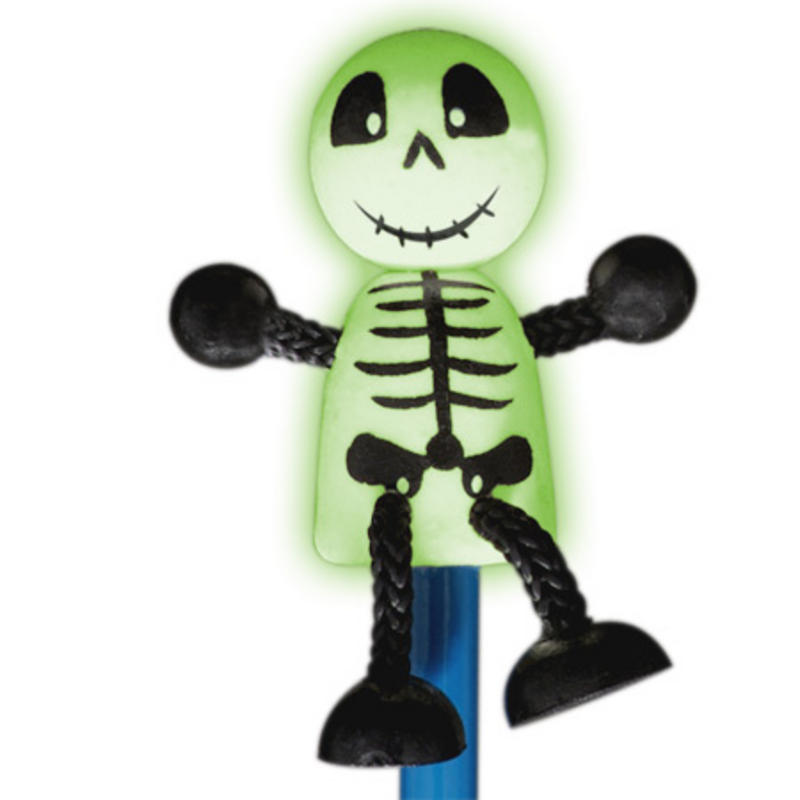 Skeleton Hand Painted Character Pencil & Topper Set Party Bag Gift