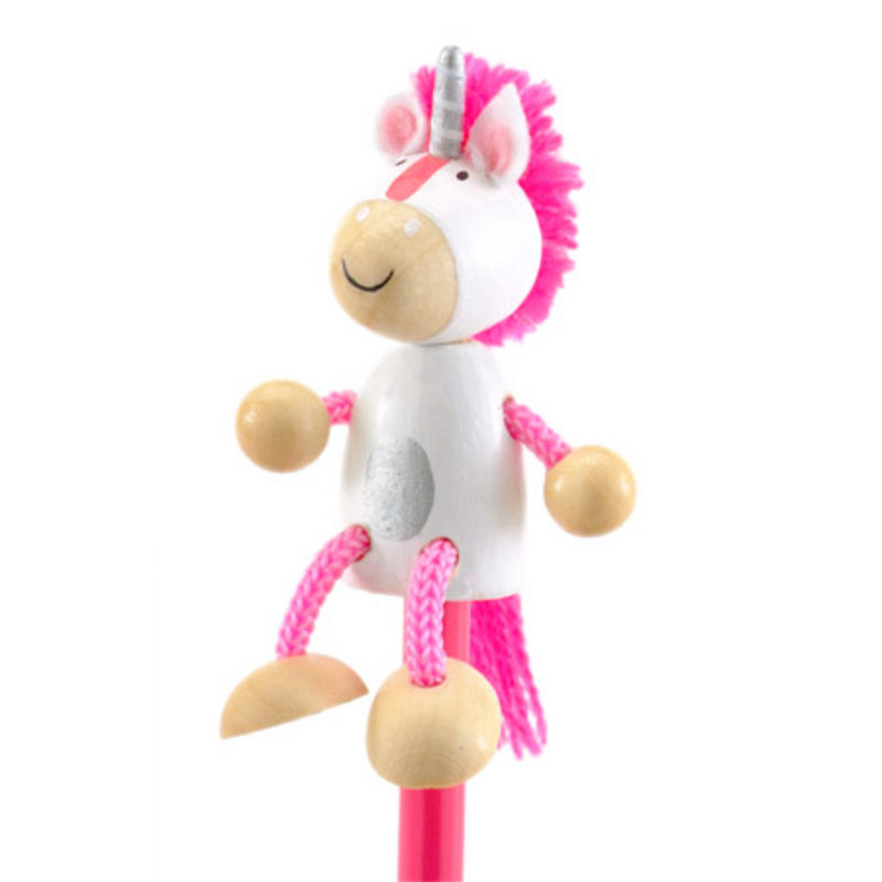 Unicorn Hand Painted Character Pencil & Topper Set Party Bag Gift