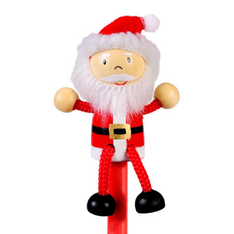 Santa Hand Painted Character Pencil & Topper Set Party Bag Gift