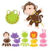 Childrens Animal Threading Sewing Matching Craft Set Kit Game Toy Age 3+