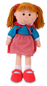 Childrens Little Red Riding Hood Rag Doll Dolly Soft Toy 36cm Tall Fiesta Crafts