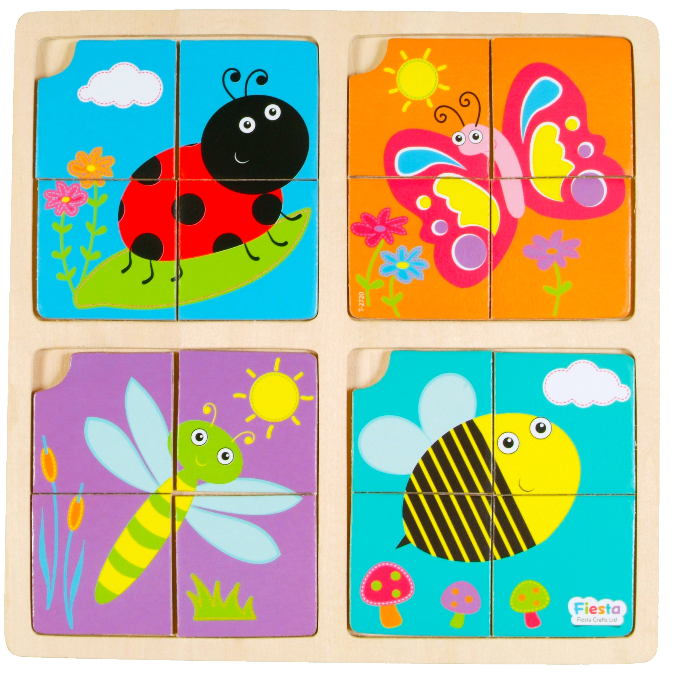 Childrens set of 4 garden puzzles insect bug each one 4 for Articulos jardin