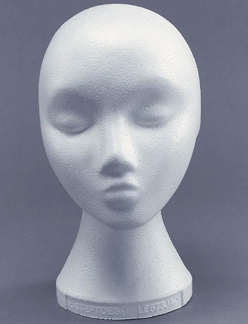 t te de mannequin en polystyr ne femme pour chapeaux ebay. Black Bedroom Furniture Sets. Home Design Ideas