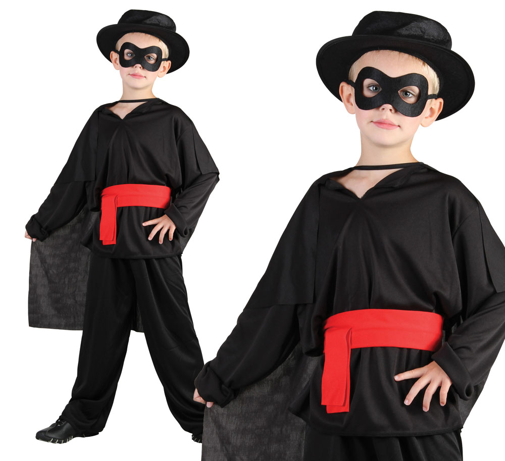 Childrens Kids Bandit Fancy Dress Costume Lone Ranger