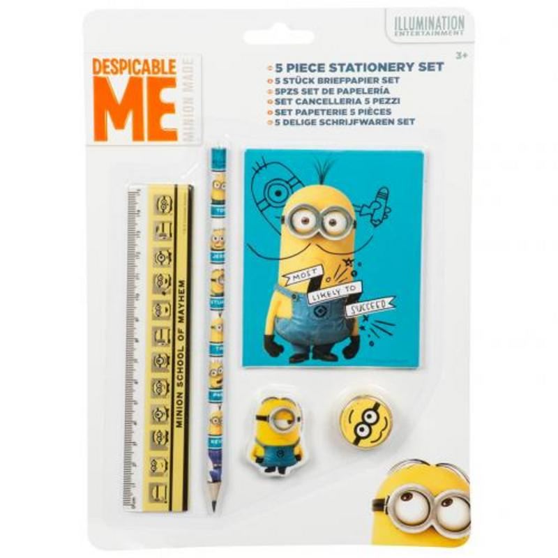 Despicable Me Minion 5pc Stationery Set Pack Minions