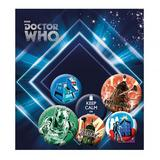 Doctor Who Button Badge Set 6 Piece Lapel Pin Gift Set