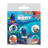 Finding Dory Nemo Button Badge Gift Set