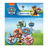 Paw Patrol Button Badge Set 6 Piece Lapel Pin Gift Set