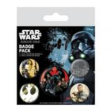 Star Wars Rogue One Button Badge Collectors Set Rebel