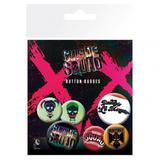 Suicide Squad Button Badge Collectors Set