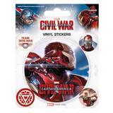 Captain America Civil War Sticker Pack Set