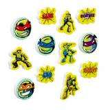 Teenage Mutant Ninja Turtles 12pk Erasers Rubbers Stationary Set Anna Elsa Olaf Kids Childs Set