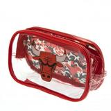 Chicago Bulls Clear Pencil Case With Strong Zip