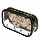 Pittsburgh Steelers Clear Pencil Case With Strong Zip