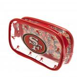 San Francisco 49ers Clear Pencil Case With Strong Zip