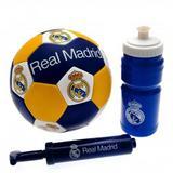 Real Madrid Fc Football Set Gift Pack Ball Drinks Bottle Pump