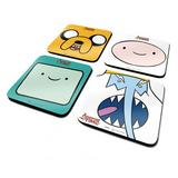 Adventure Time 4 Pack of Coasters - Gift Set