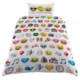 Emoji Single Duvet Cover Cover Set & Pillow Case WT