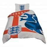 England Football Team FA Single Duvet Cover Set Reverible 200cm x 135cm